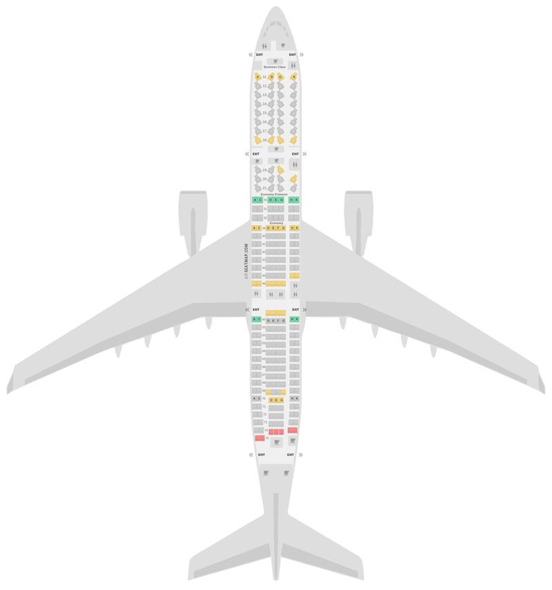 Sitzplan Airbus A330-300 (333) v1 Cathay Pacific