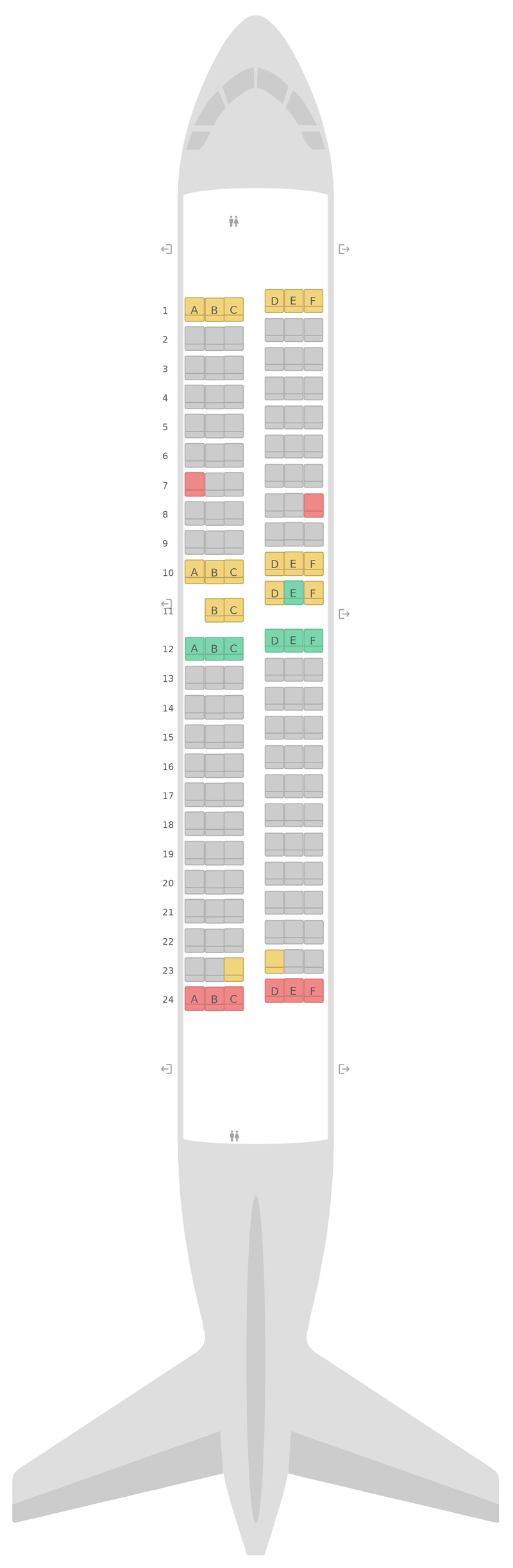 Seat Map Southwest Airlines Boeing 737-700