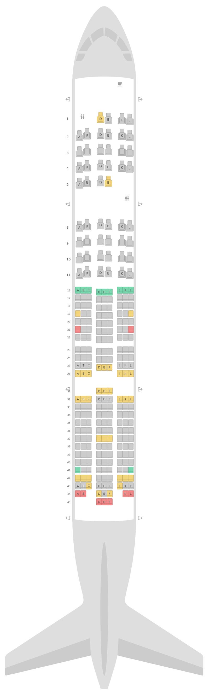Seat Map United Boeing 777-200 (777) v2