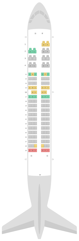 Sitzplan Airbus A319 Air Canada