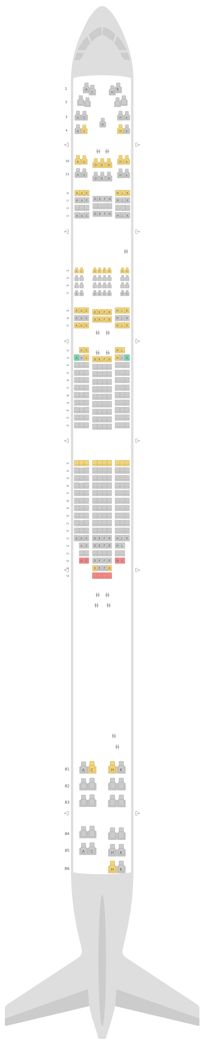 Sitzplan Boeing 747-400 (744) v1 Lufthansa