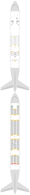 Seat Map Etihad Airways Airbus A380-800 (388)