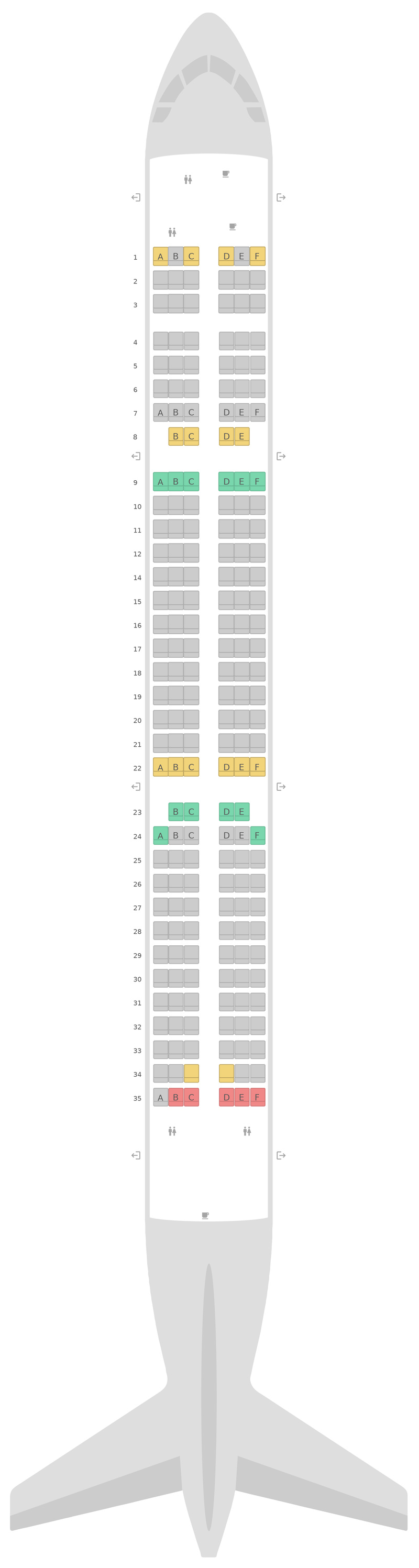 Seat Map Eurowings Airbus A321