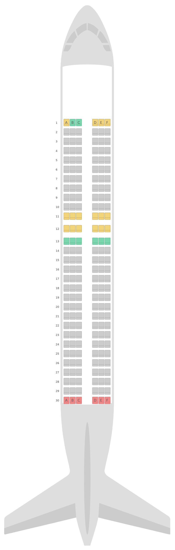 Sitzplan Airbus A320 v1 Jetstar Airways