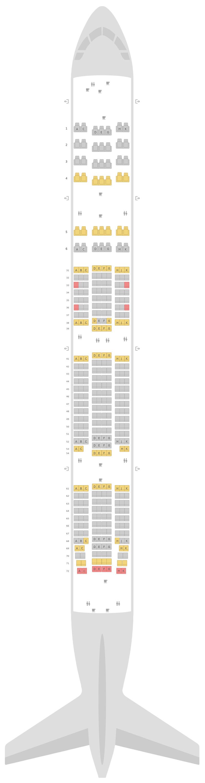 Sitzplan Boeing 777-300ER (77W) Philippine Airlines (PAL)