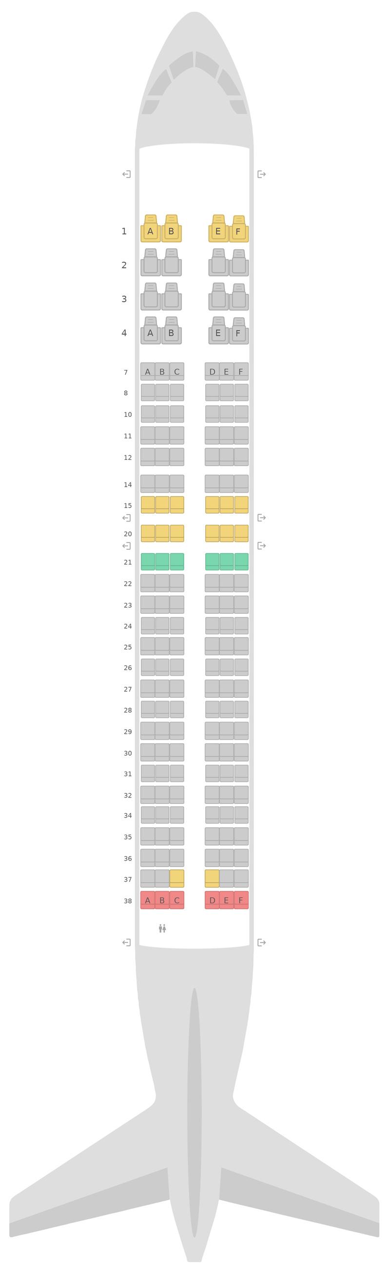 Seat Map United Boeing 737-800 (738) v3