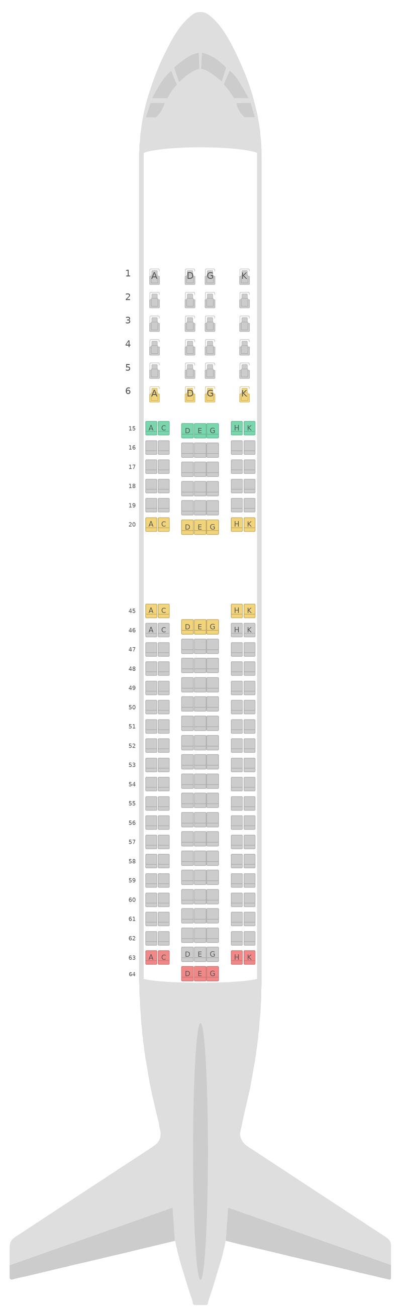 Sitzplan Boeing 767-300ER v5 Japan Airlines (JAL)