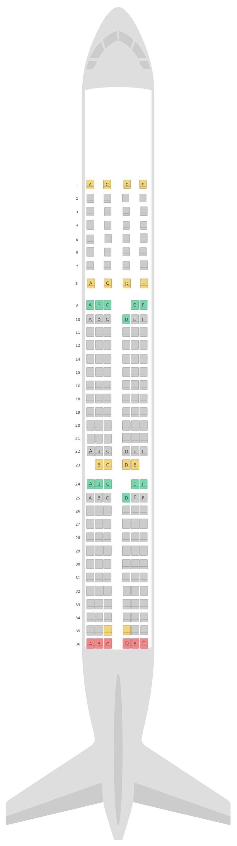 Sitzplan Airbus A321 v1 Alitalia