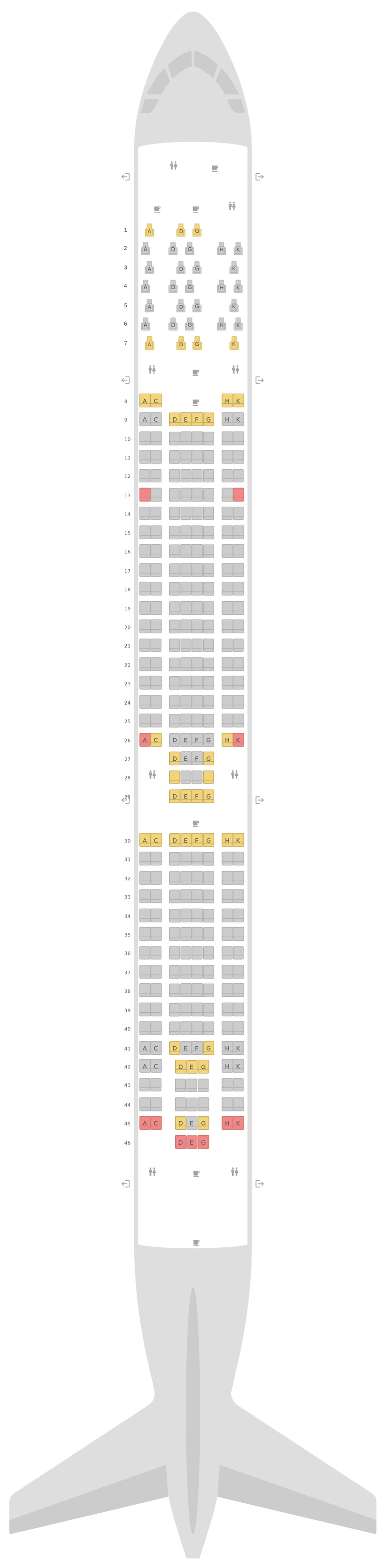Seat Map Airbus A330-300 (333) Aer Lingus
