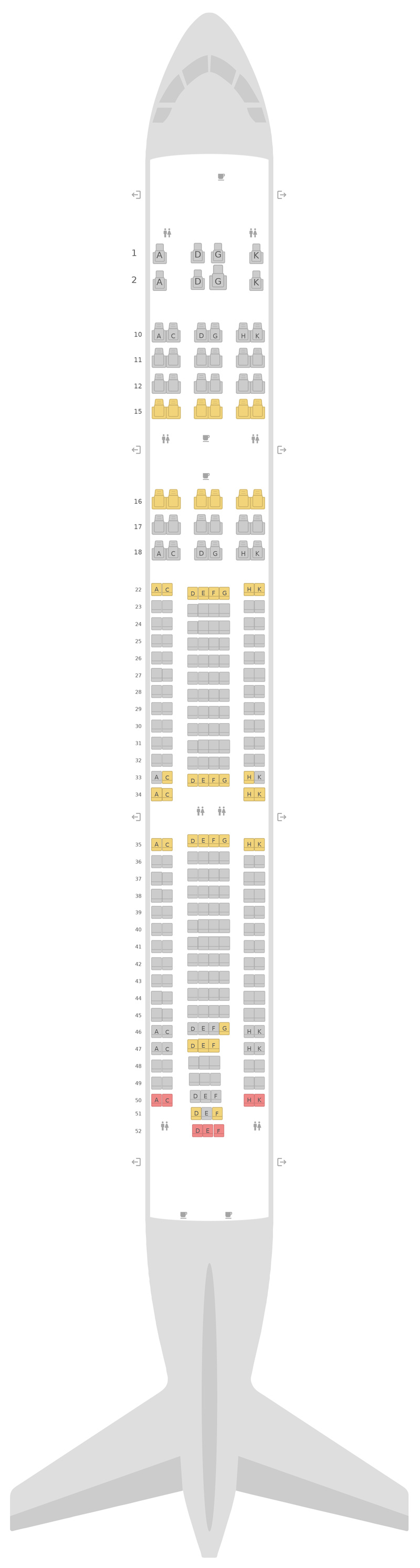 Seat Map Cathay Dragon (Dragonair) Airbus A330-300 (333) v3