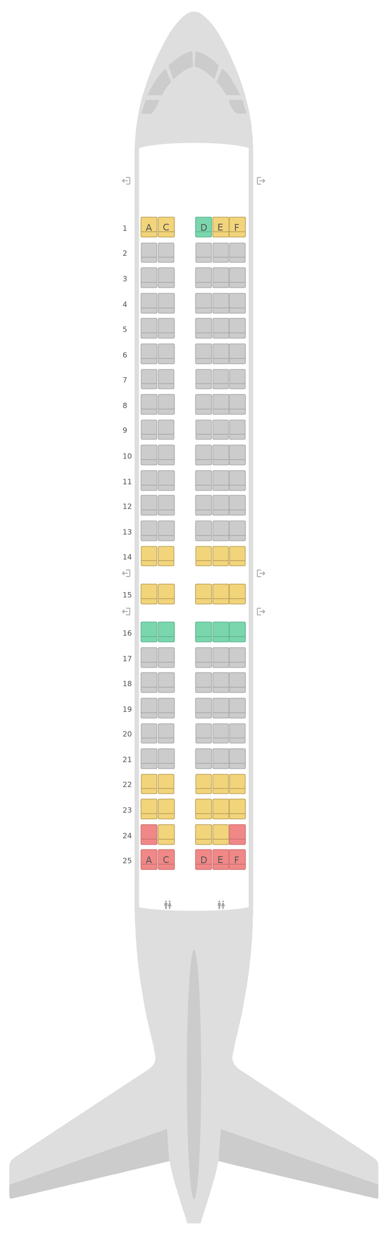 Схема салона Боинг 717-200 Qantas