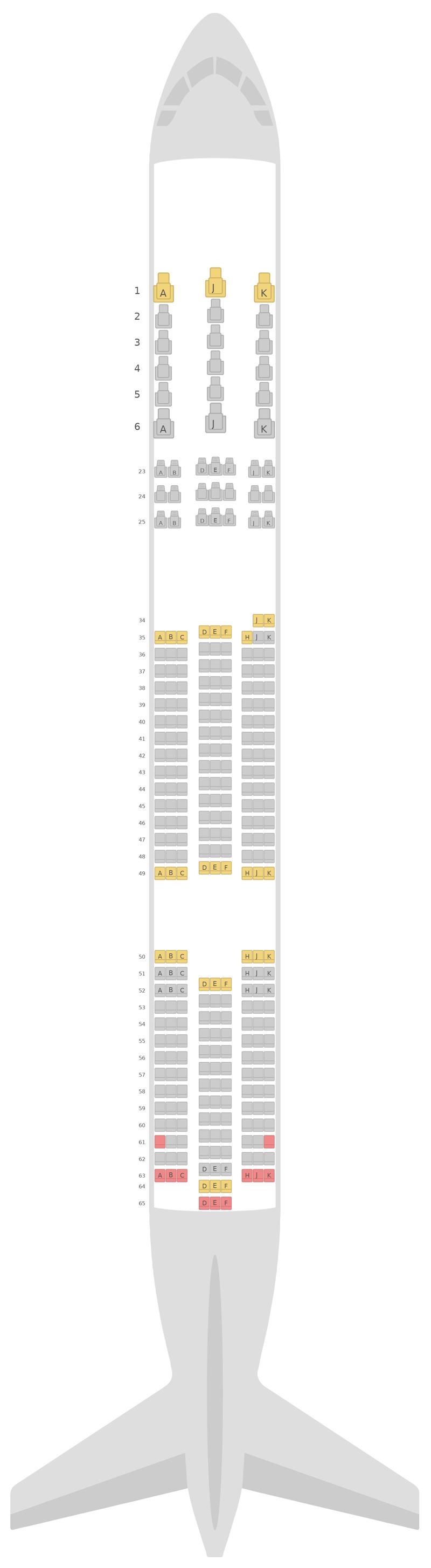 Схема салона Боинг 787-9 (789) v1 Air New Zealand
