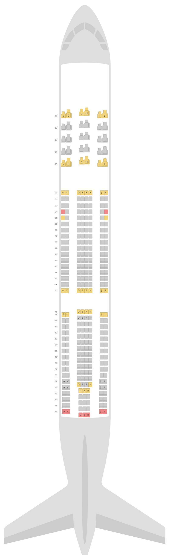 Схема салона Аэробус А330-300 (333) Эйр Чайна