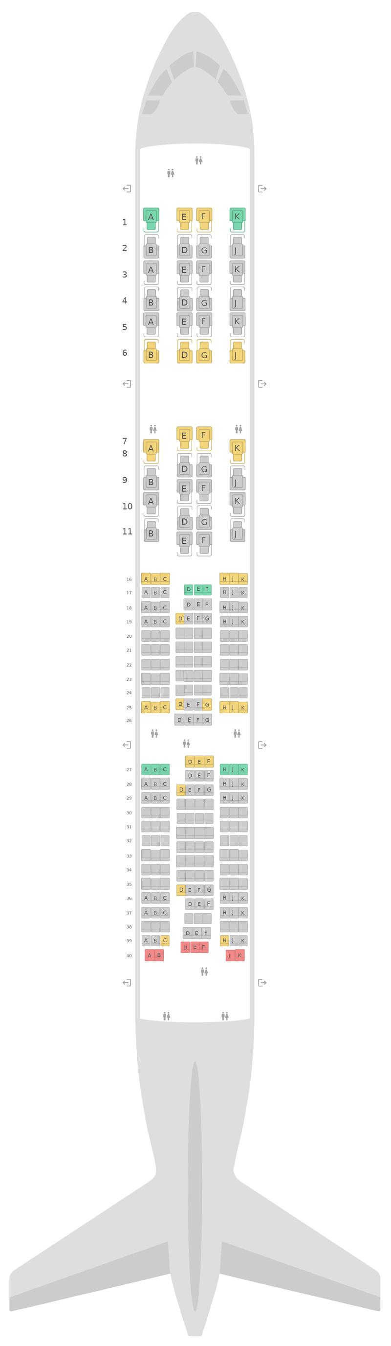 Mapa de asientos Boeing 777-200LR Qsuite v2 Qatar Airways