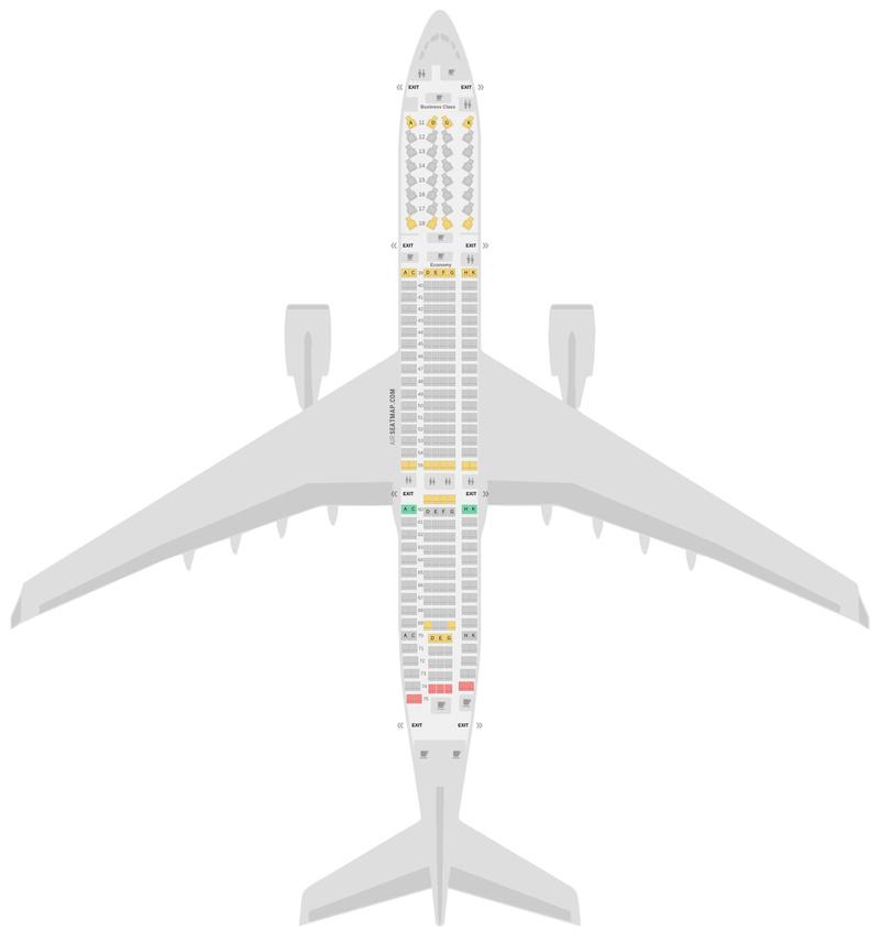 Схема салона Аэробус А330-300 (333) v3 Cathay Pacific