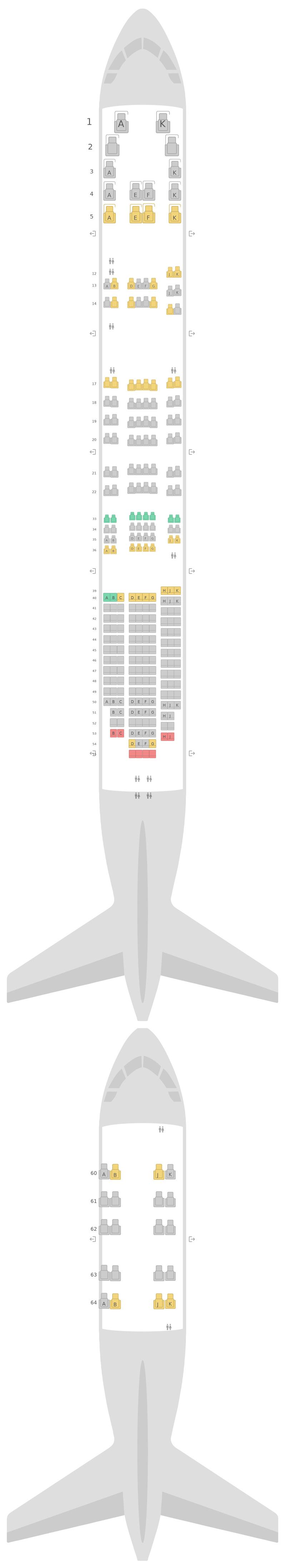 Схема салона Боинг 747-400 (744) v2 Бритиш Эйрвейз