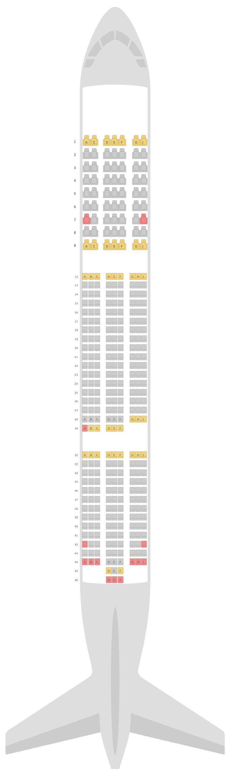 Sitzplan Boeing 787-9 (789) TUI Airways