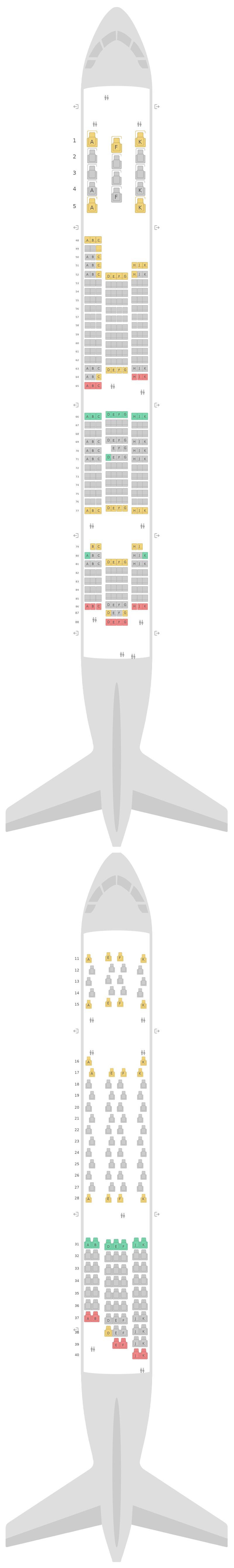 Mapa de asientos Airbus A380-800 (388) v2 Qantas