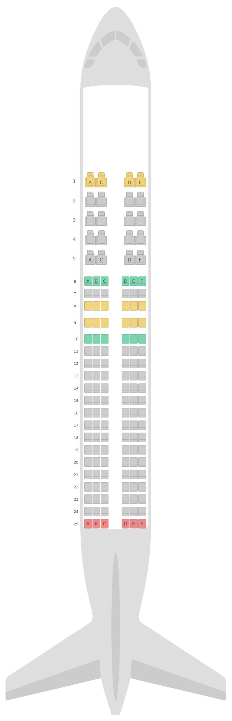 Sitzplan Airbus A320 v1 Aeroflot