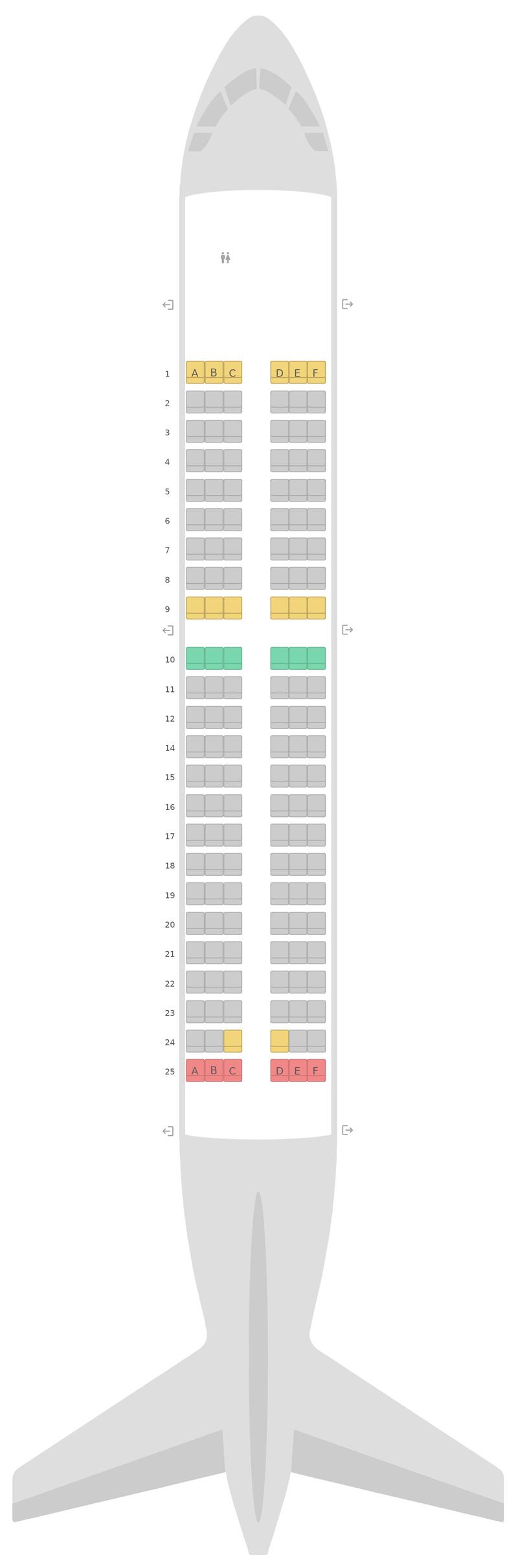Mapa de asientos Airbus A319 v1 British Airways