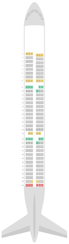 Mapa de asientos Airbus A321 v2 Alitalia
