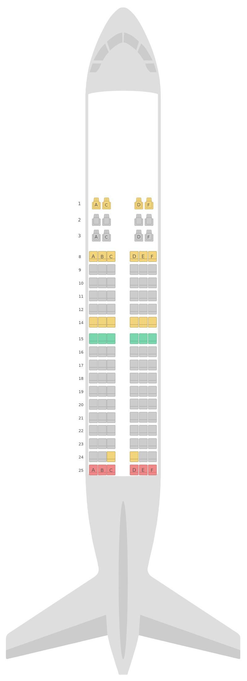 Mapa de asientos Boeing 737-700 Royal Air Maroc
