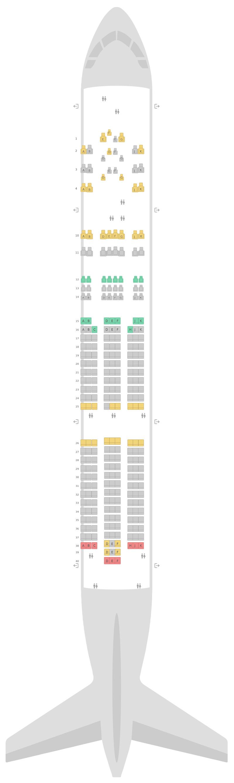 Seat Map Boeing 777-200 (777) 3 Class v4 British Airways
