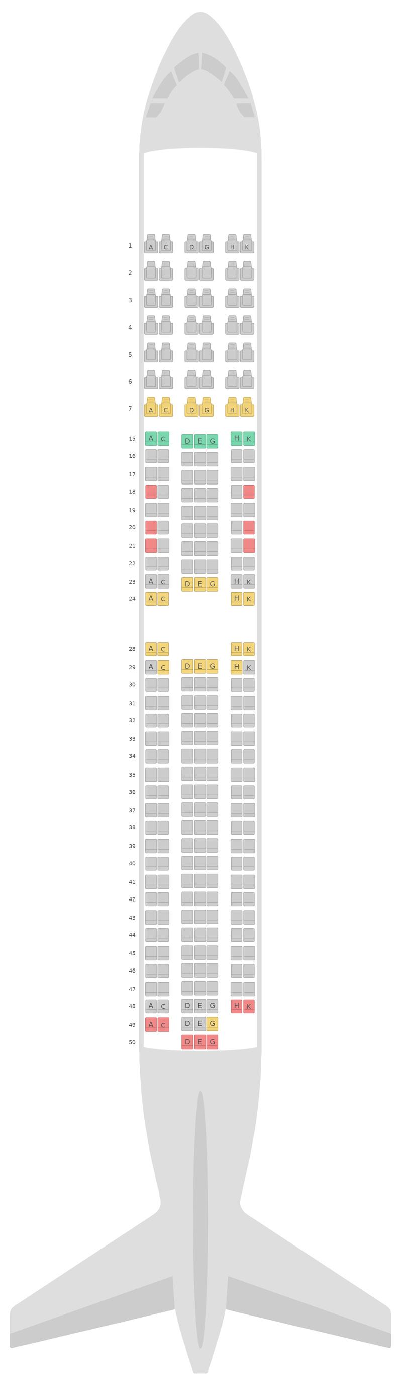 Схема салона Боинг 767-300 (763) Японские авиалинии